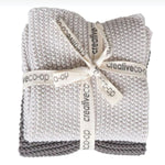 COTTON KNIT DISH TOWELS - SET OF 2