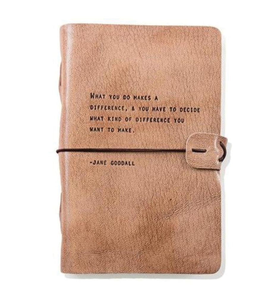 Artisan Leather Journal - Jane Goodall Quote