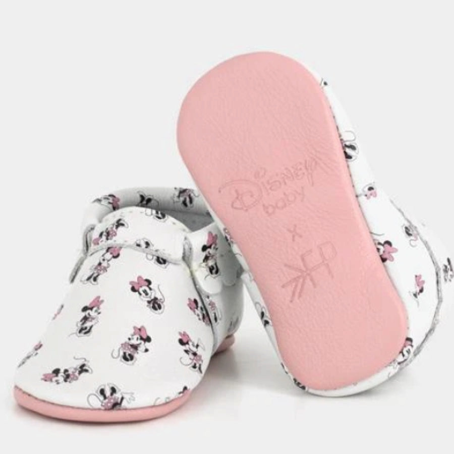 All About Minnie Moccasins Size 2 : 6-12 months