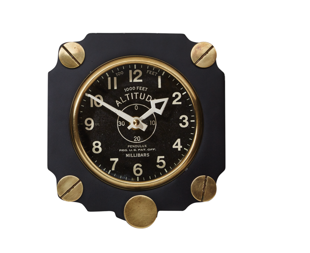 ALTIMETER WALL CLOCK BLACK