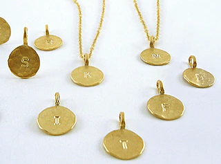 Extra Initial Charm for Initial Pendant Necklace