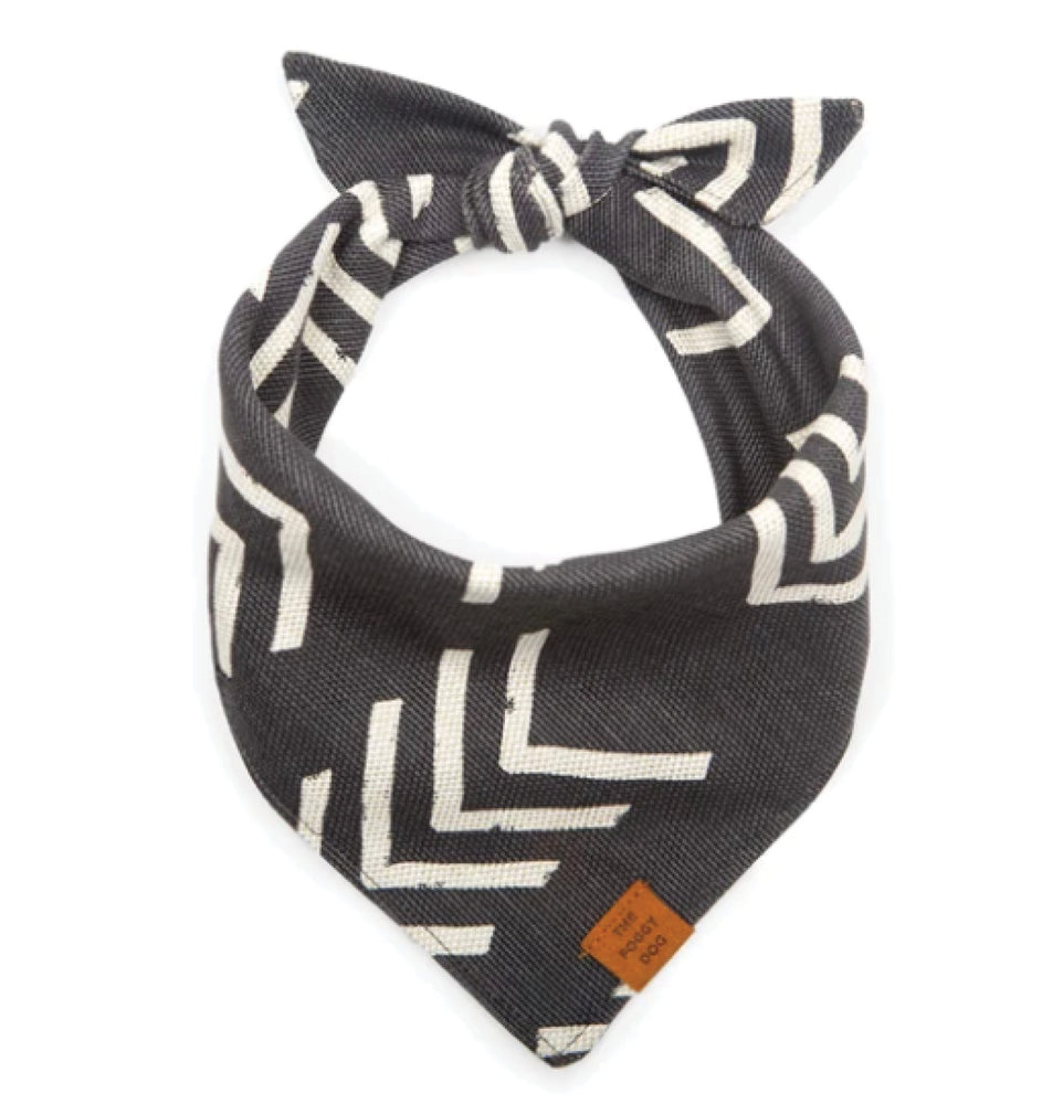 Modern Mud Cloth Dog Bandana, Small