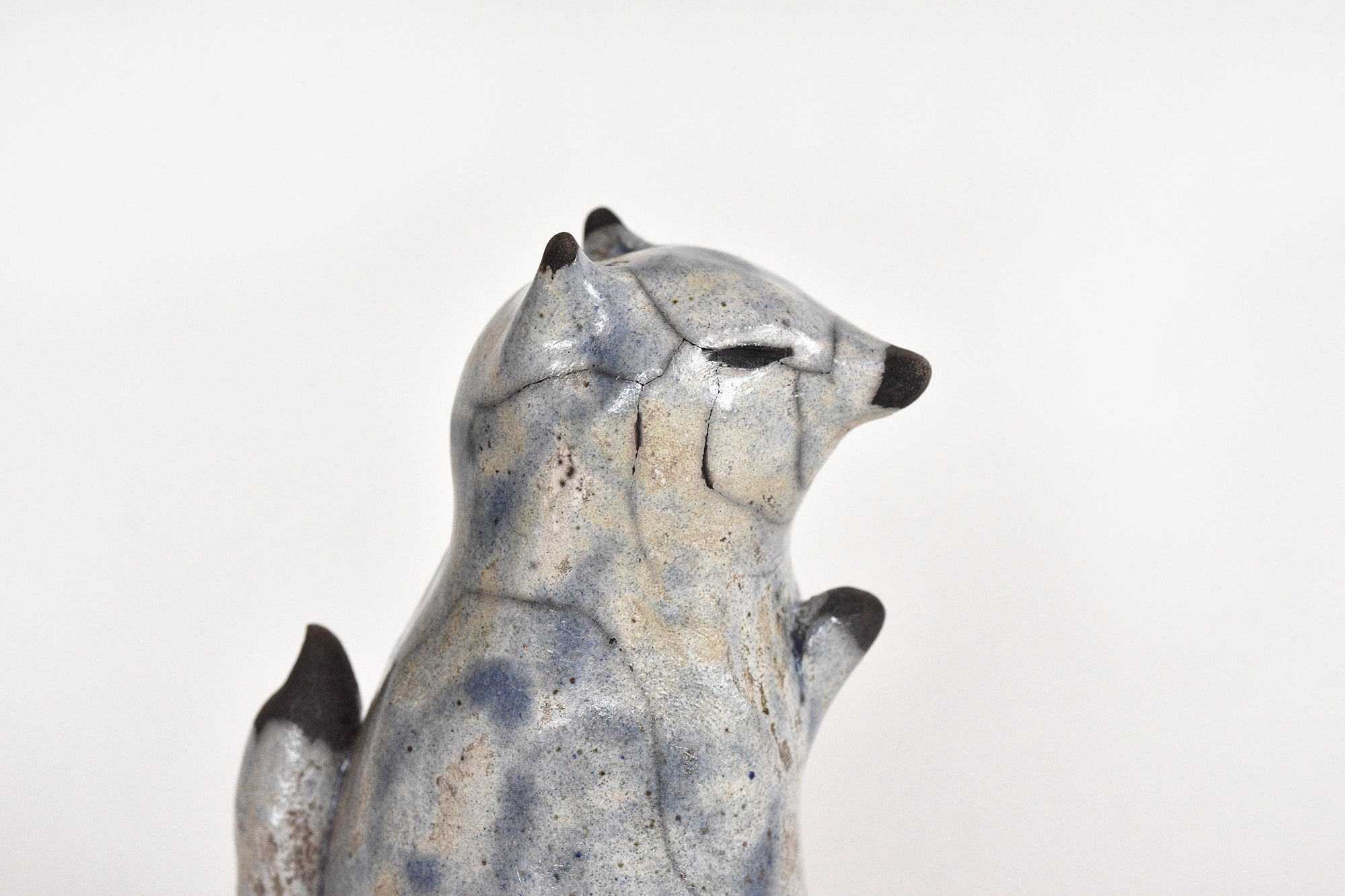 Praying Raku Ceramic Fox