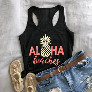 Cute Aloha Beaches Racerback