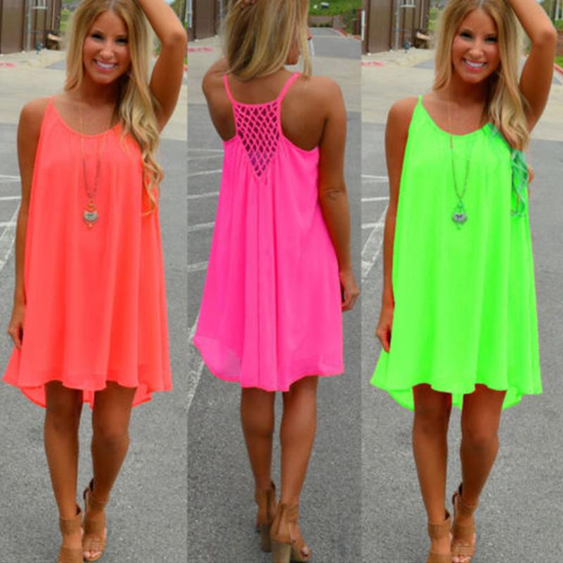 Summer Neon Beach Sundress - Beach Boujee