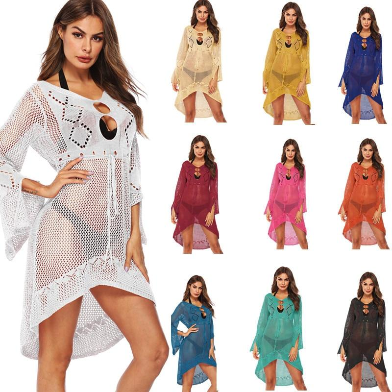 Women's Crochet Tunic Beach Dress - Beach Boujee