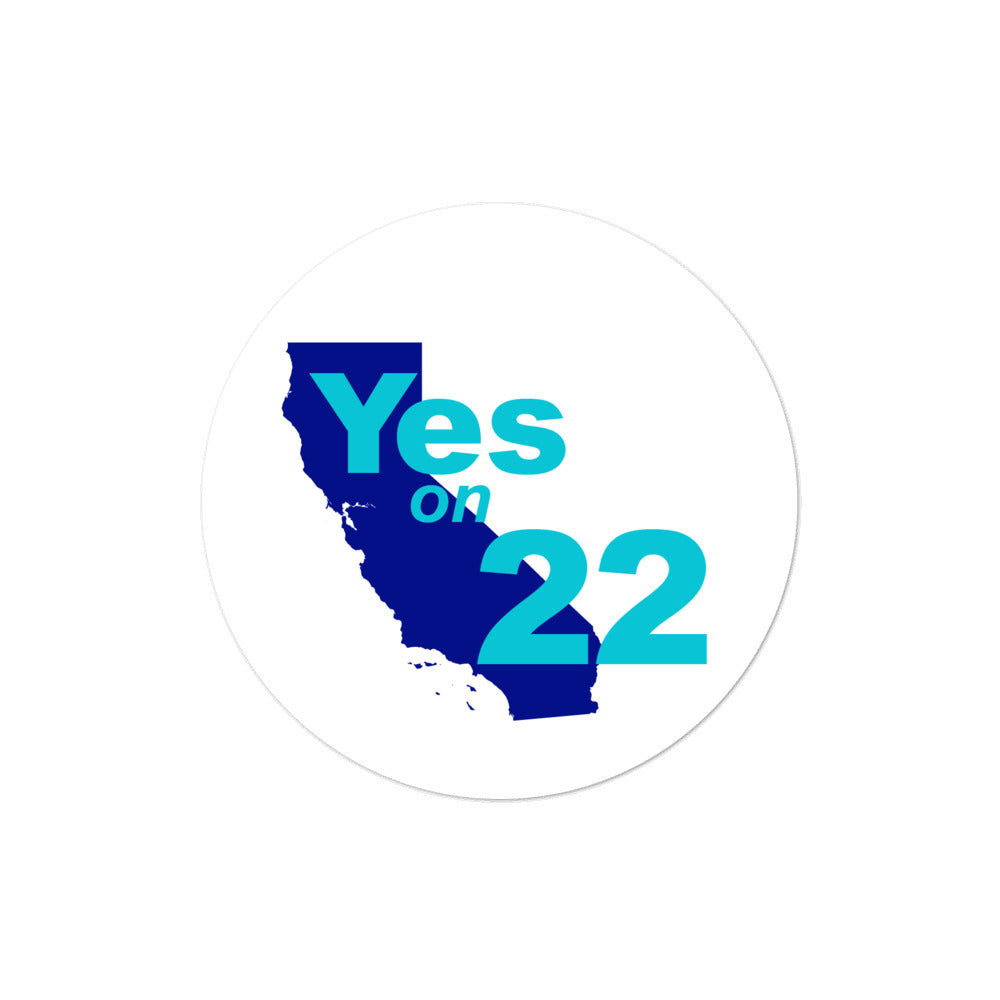 California prop 22 vote yes  2020 proposition 22 sticker
