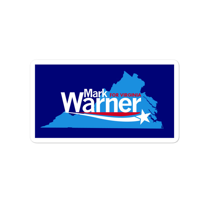 Mark Warner 2020 for Senate Virginia sticker