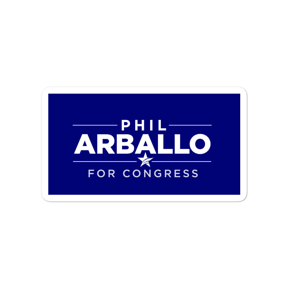 Phil Arballo for Congress 2020 CA-22 sticker