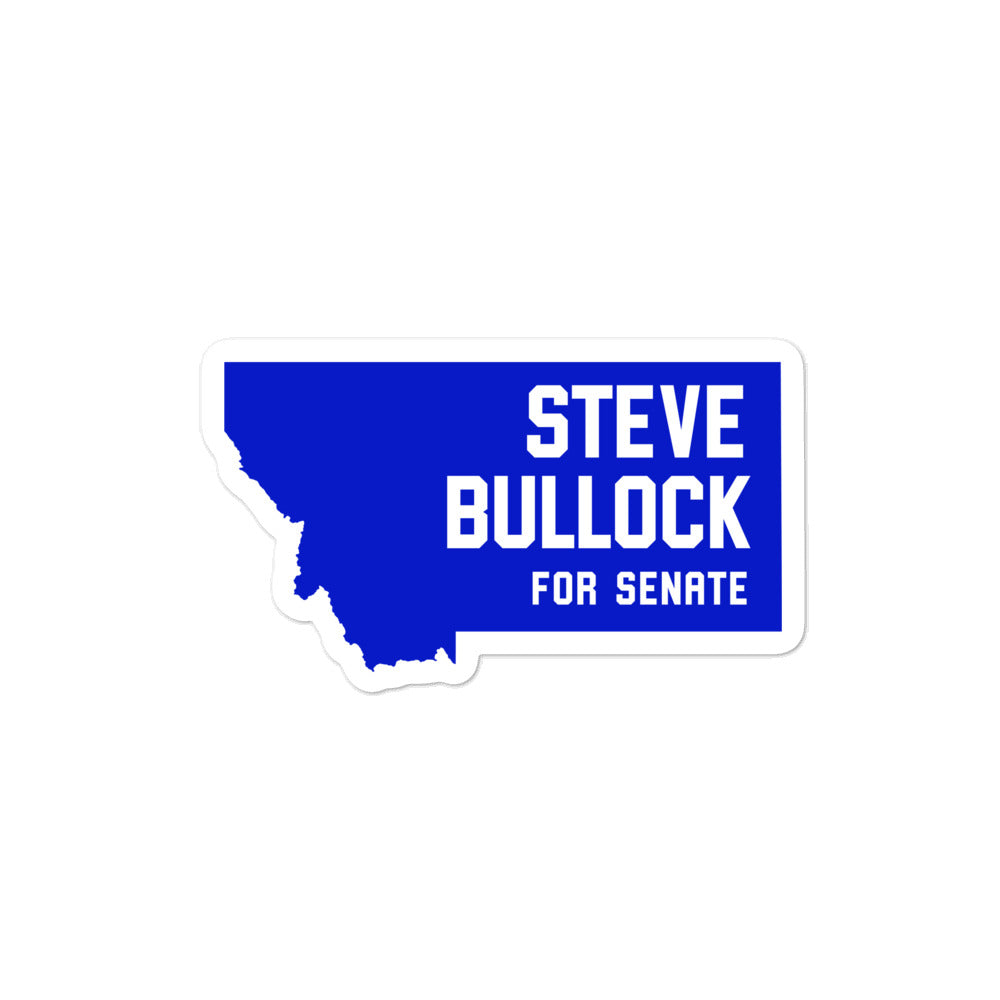 Steve Bullock for Senate Montana 2020 sticker