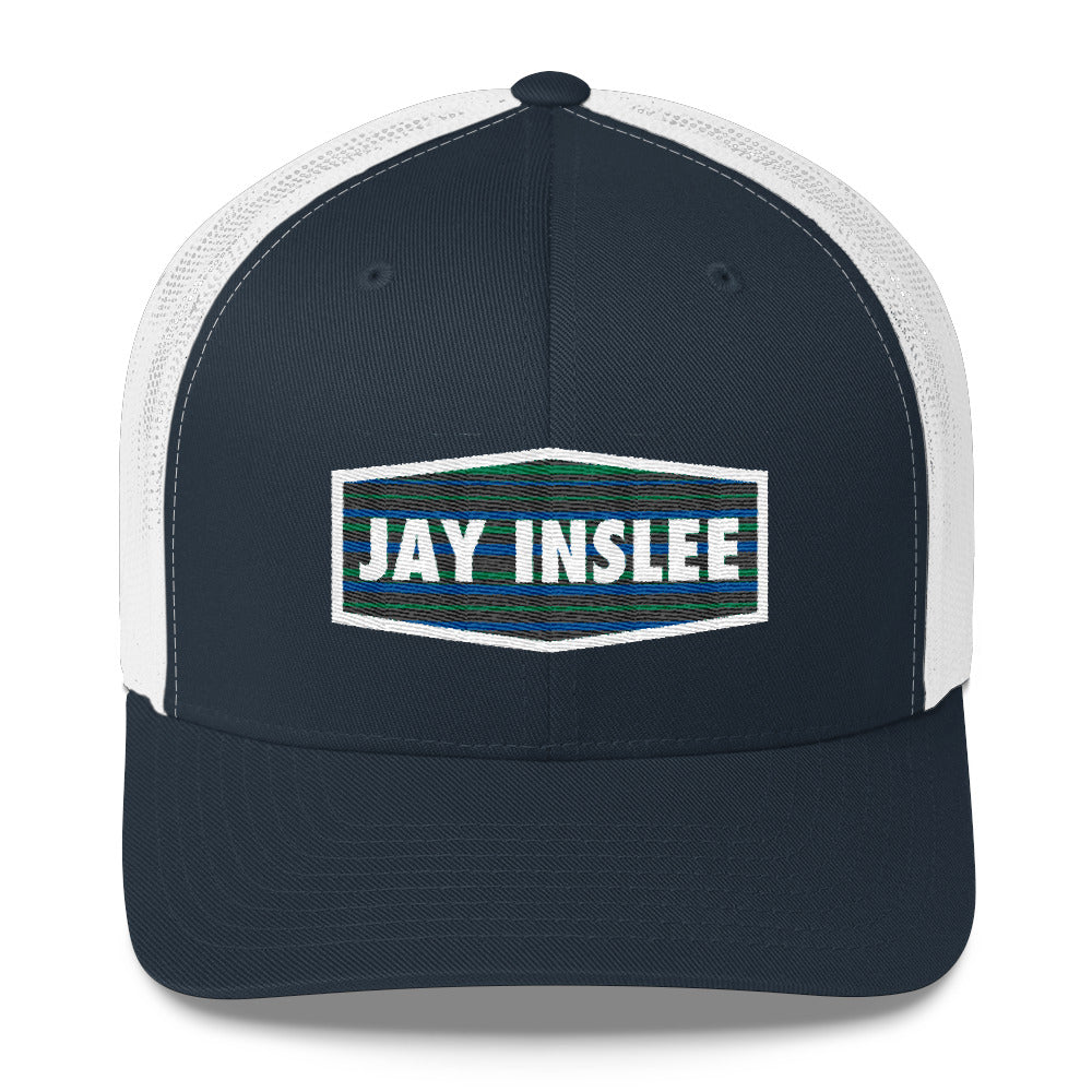 Jay Inslee 2020 trucker hat - navy and white
