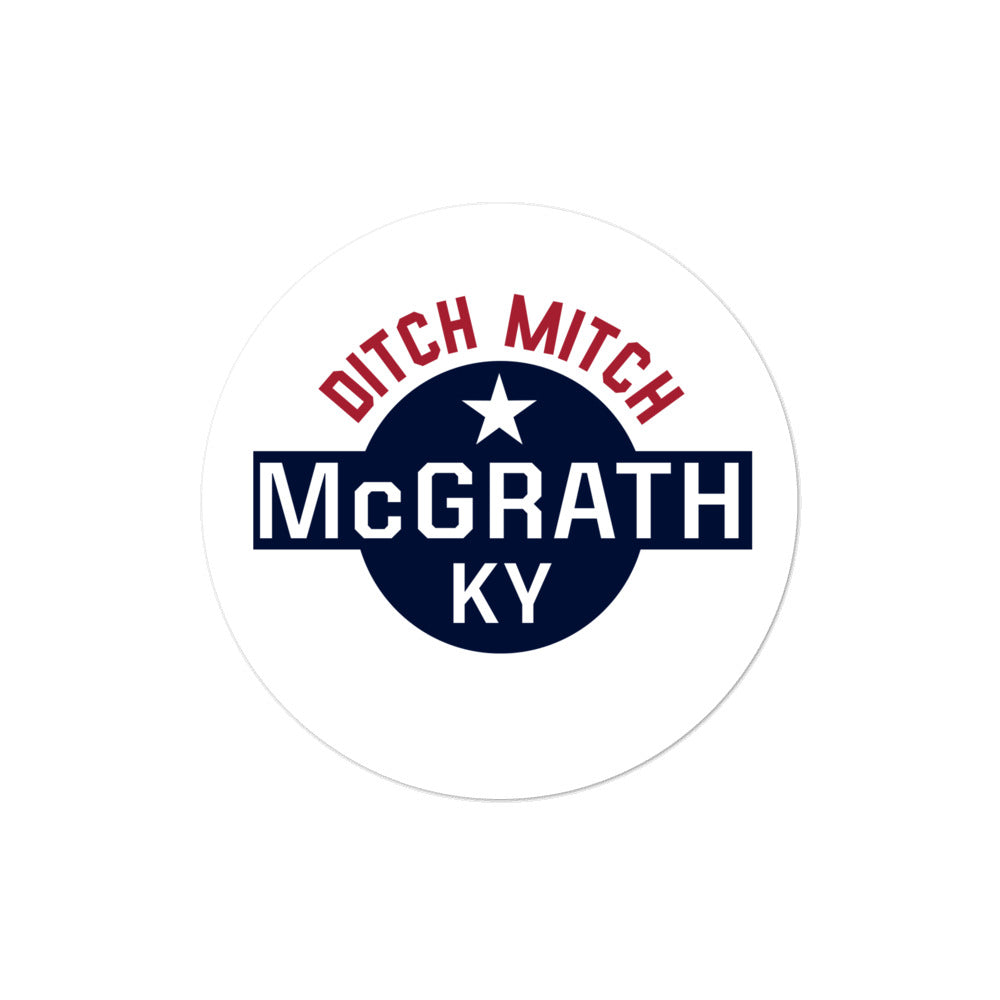 Amy McGrath 2020 Kentucky Senate Ditch Mitch sticker