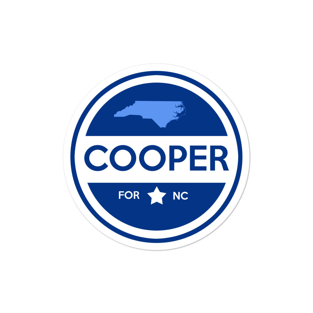 Roy Cooper for Governor North Carolina 2020 sticker