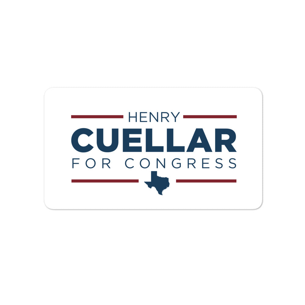 "Henry Cuellar for Texas TX-28 2020 4"" sticker"