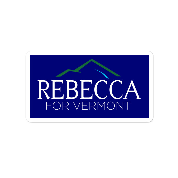 "Rebecca Holcombe for Vermont Governor 4"" sticker"
