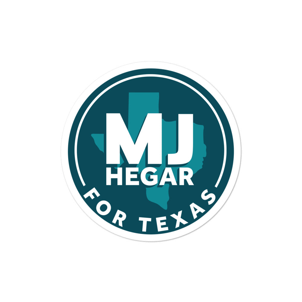 MJ Hegar for Texas sticker