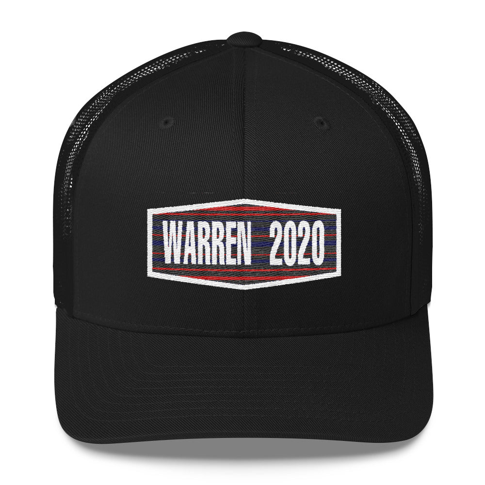 Elizabeth Warren 2020 trucker hat - black
