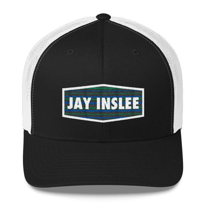 Jay Inslee 2020 trucker hat - black and white