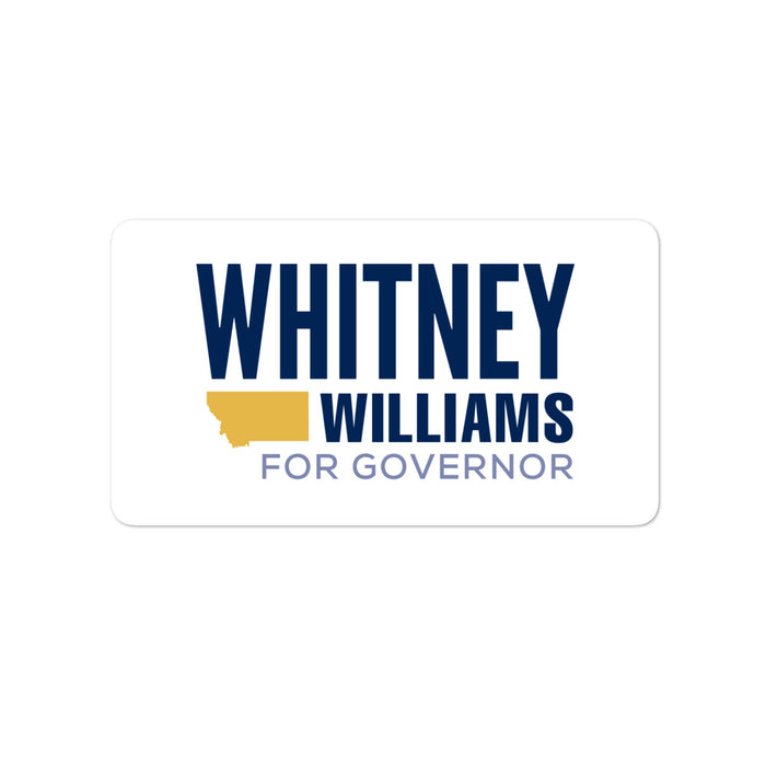 "Whitney Williams 2020 for Governor Montana 4"" sticker"