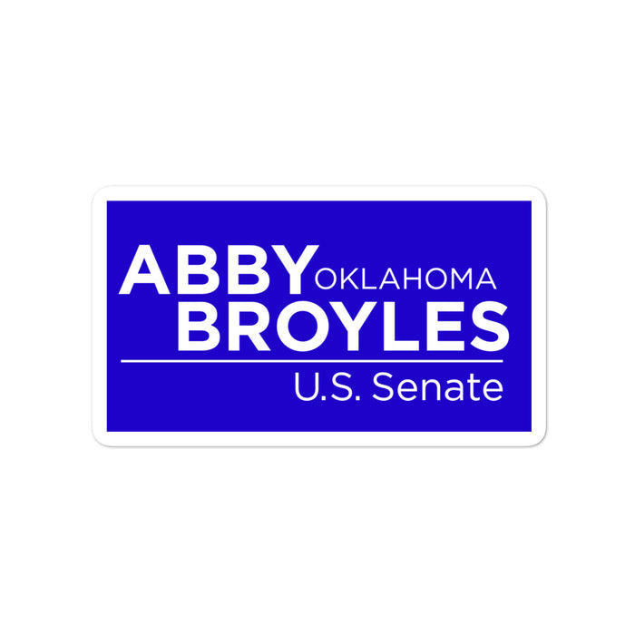 Abby Broyles for Senate 2020 sticker