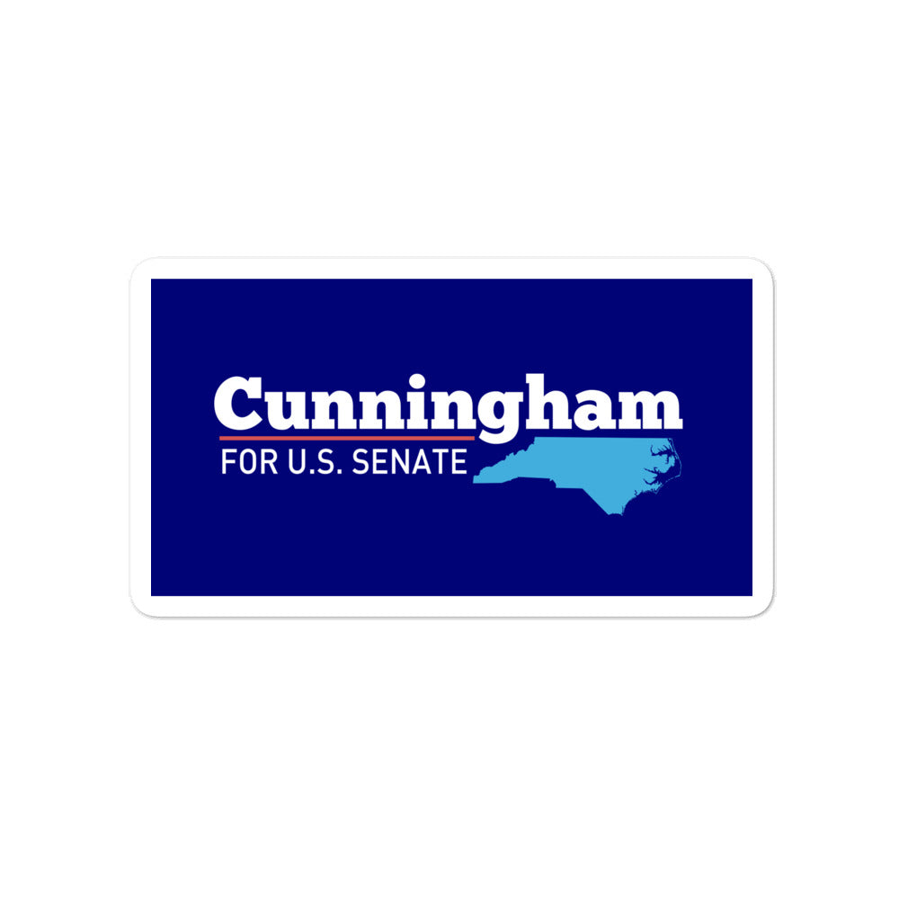 Cal Cunningham 2020 North Carolina Sticker