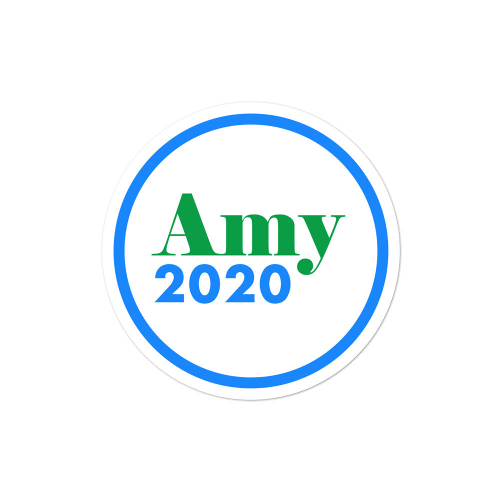Amy Klobuchar 2020 campaign sticker