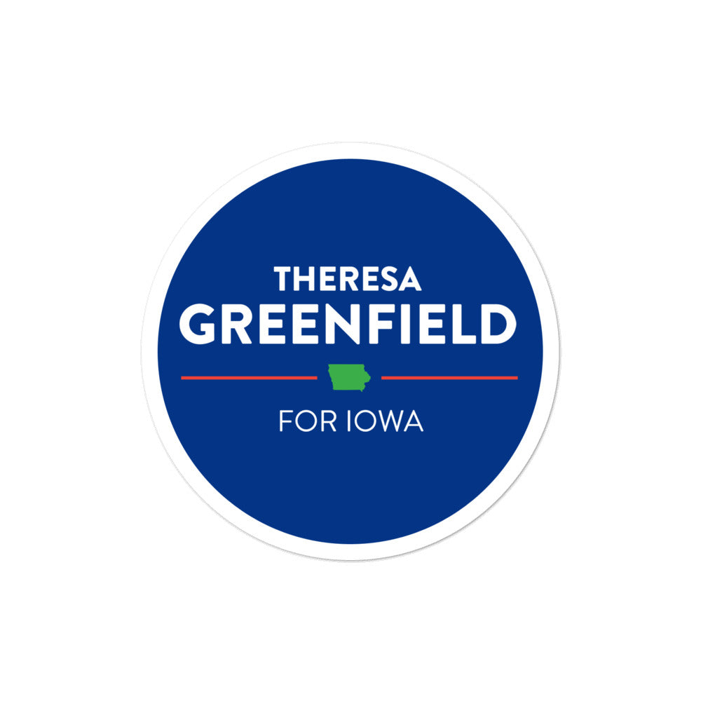 Theresa Greenfield for Iowa 2020 sticker