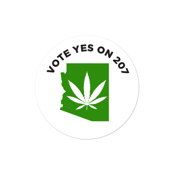 Arizona vote yes on Proposition 207 marijuana legalization initiative sticker
