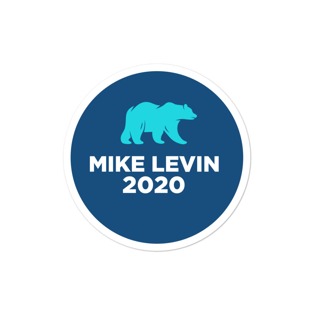 "Mike Levin 2020 CA-49 for congress 4""x""4 sticker"