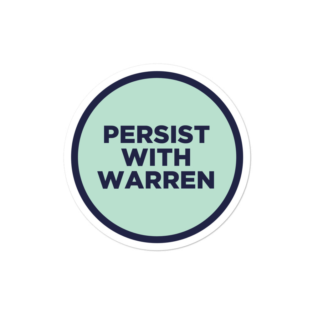 Elizabeth Warren 2020 persist sticker