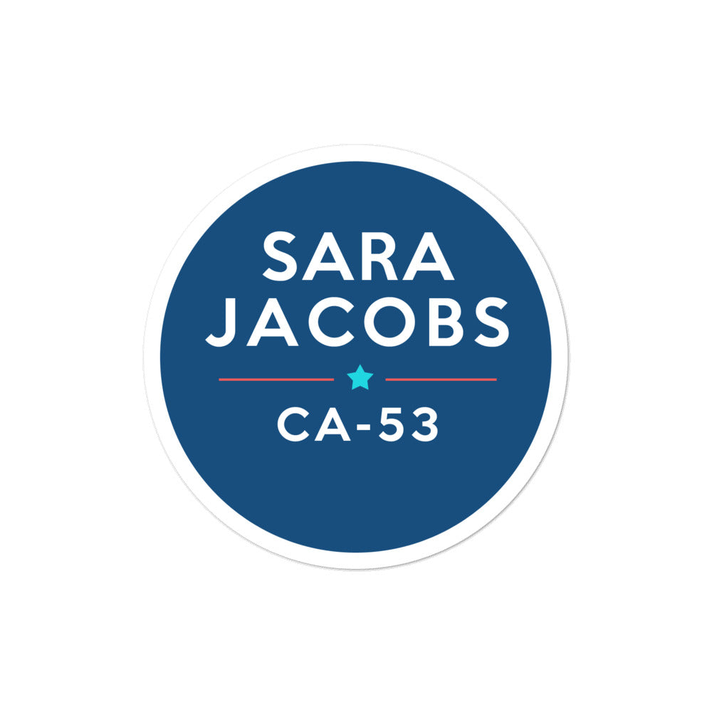 Sara Jacobs CA-53 2020 for Congress sticker