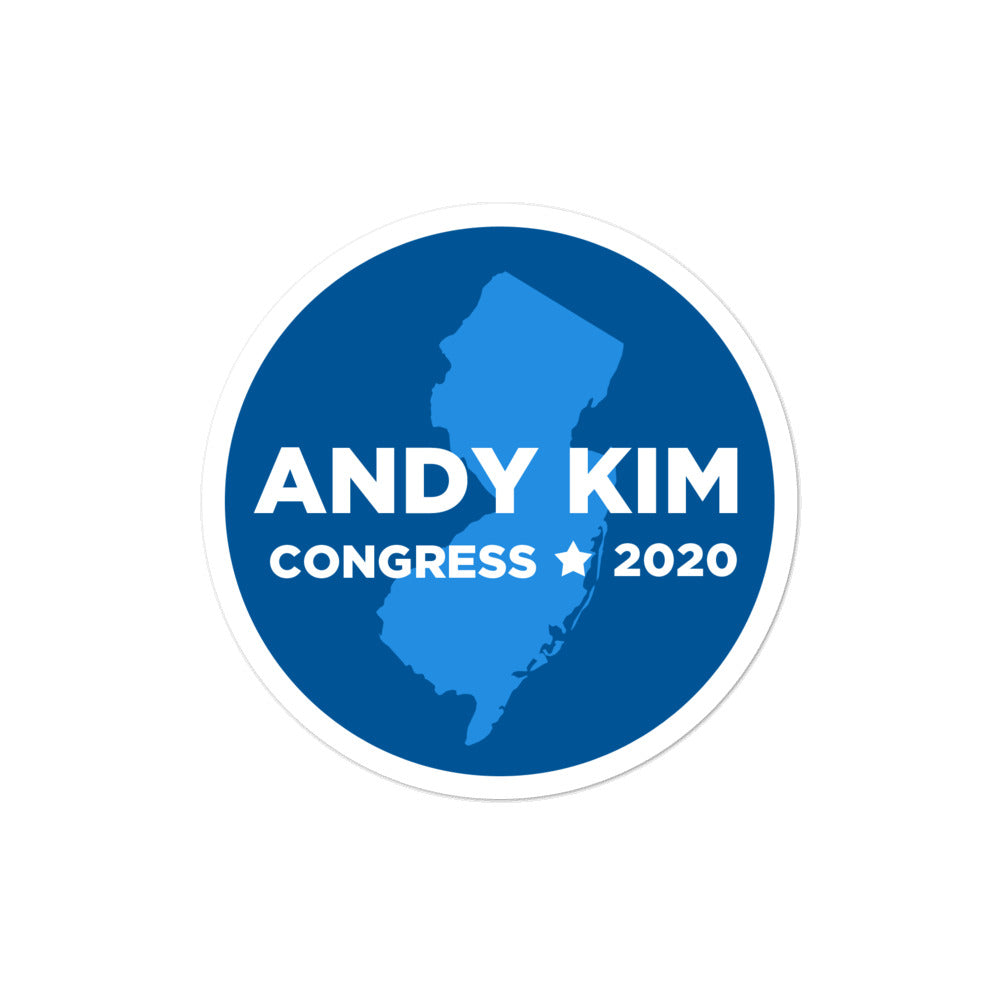 Andy Kim Congress 2020 New Jersey sticker