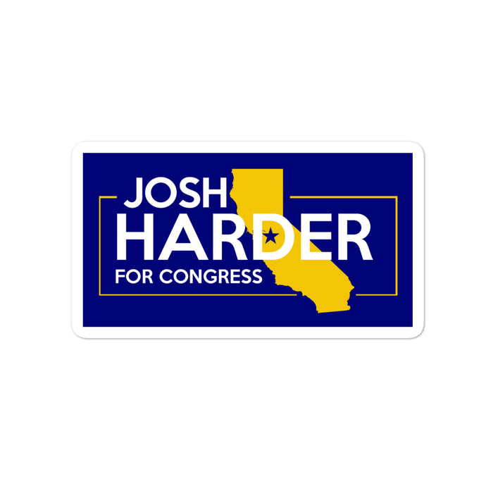 Josh Harder 2020 for congress CA-10 sticker