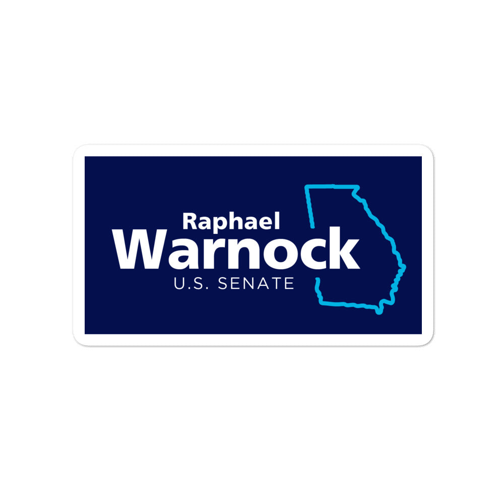 Raphael Warnock U.S. Senate 2020 election sticker
