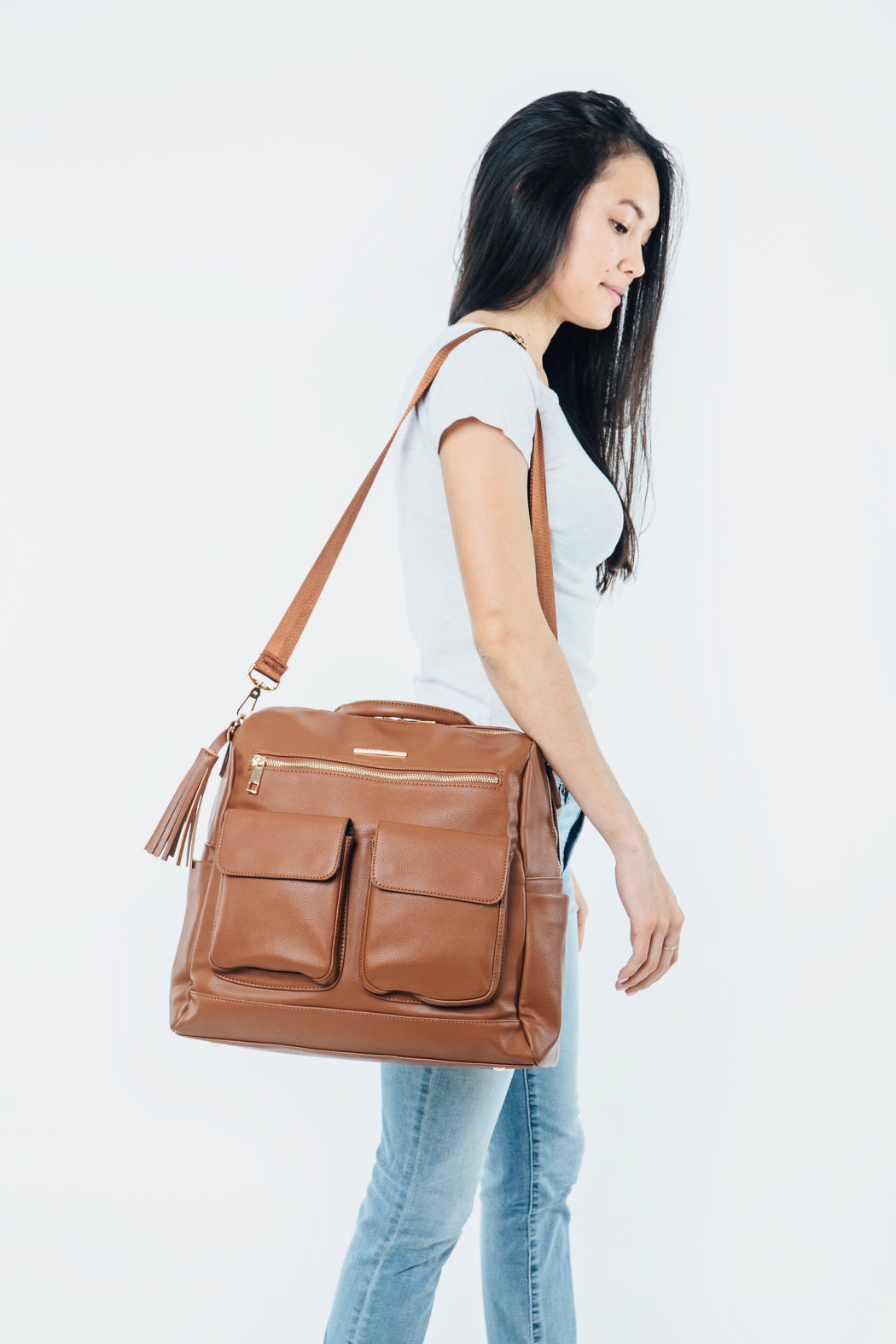 A Cute Diaper Bag - Ella Dane Caramel - Ella Dane