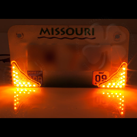 Lighting - Signals - Universal License Plate Arrow - LED Clear