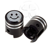 Valve Caps - Piston - Smiley Face
