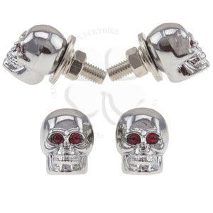 Bolts - License Plate - Skull Chrome