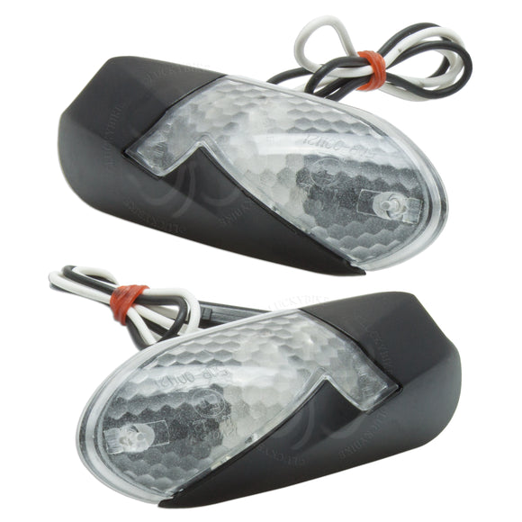 Lighting - Marauder Signals - Mirror Block-off Signals Suzuki GSXR - Clear