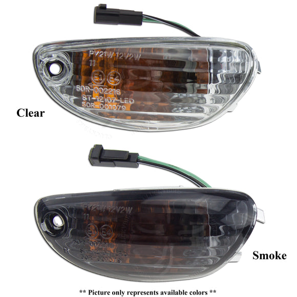 Lighting - Signals - Suzuki - Front Mirror- Complete Unit - Amber Bulb - 06+ GSXR 600 / 750 / 1000