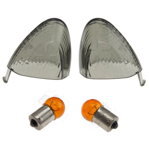 Lighting - Signal Lens - Kawasaki - Rear - Euro - 05-06 ZX6r/6rr/636, ZX10R - Smoke