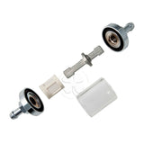 Fuel Filter - 6mm 1/4 Inch Hoses - Re-Usable Glass Chrome