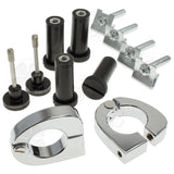 Clamps - Harley Lower Vent Quick Release Kit - Chrome
