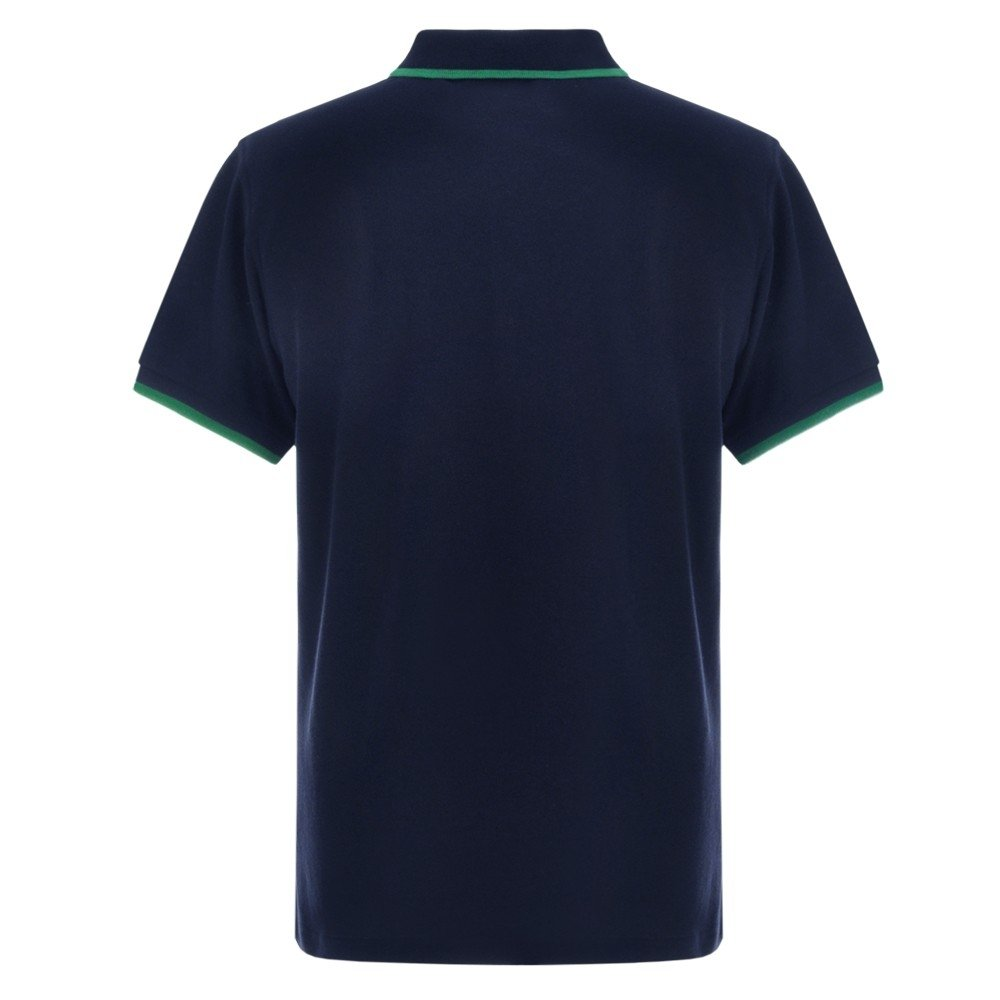 FUEL Retro Polo Shirt - Navy and Green