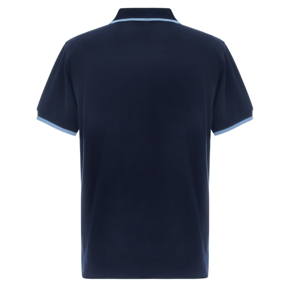 FUEL Retro Polo Shirt - Navy and Light Blue