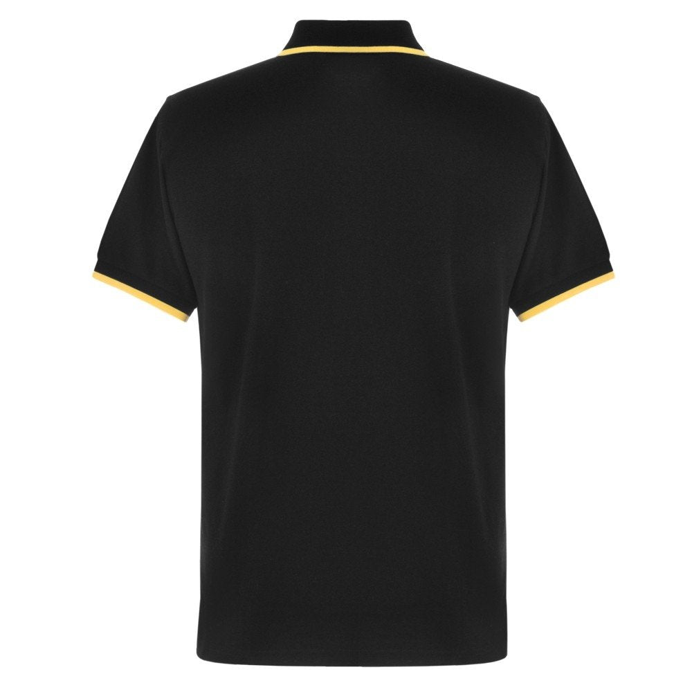 FUEL Retro Polo Shirt - Black and Gold