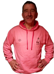 Hanbags Pink Contrast Hooded Top