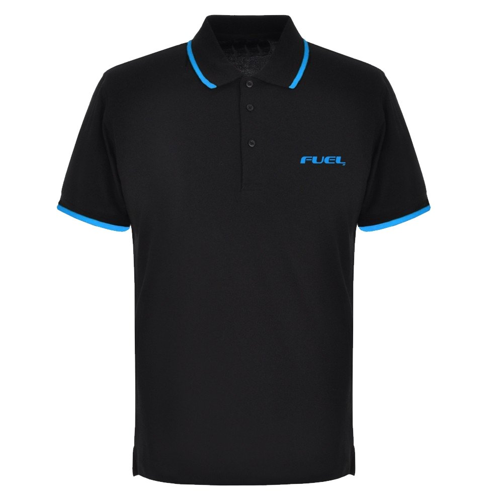 FUEL Retro Polo Shirt - Black and Teal