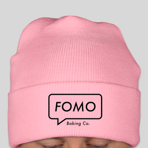 pink FOMO beanie (sold out)