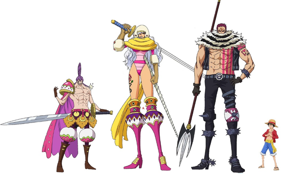 luffy katakuri height comparison